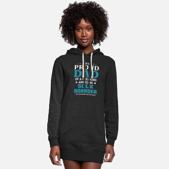 Father And Son Hoodies & Sweatshirts - Sock Boarder - Women's Hoodie Dress heather black