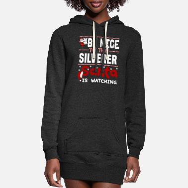 Silver Silverer - Women's Hoodie Dress