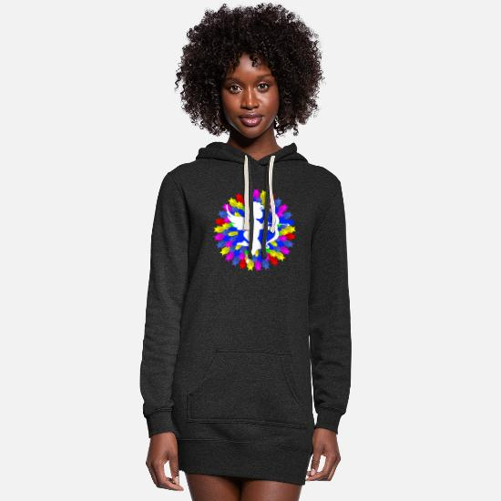 Love Hoodies & Sweatshirts - ANGEL - Women's Hoodie Dress heather black
