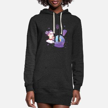 Cute Kawaii Witch Goth Creepy Cute Halloween Gifts - Women's Hoodie Dress