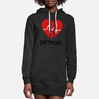 Detroit Heart Detroit - Women's Hoodie Dress