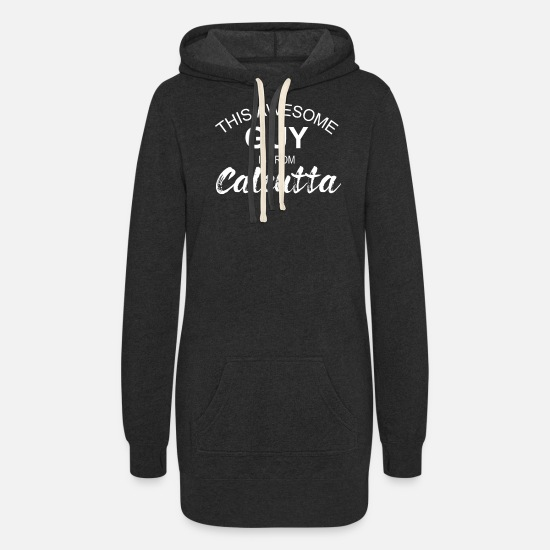 Calcutta Hoodies & Sweatshirts - Calcutta India - Women's Hoodie Dress heather black