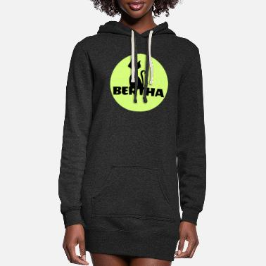 First Name Bertha name first name - Women's Hoodie Dress