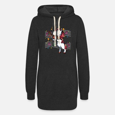 Magical violinist unicorn magic violin mythical animal gif - Women's Hoodie Dress