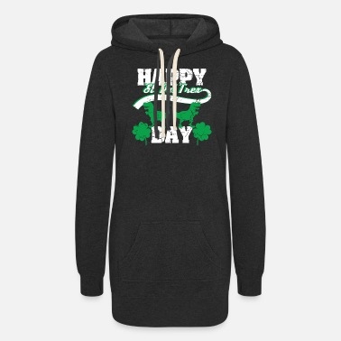 Lucky Happy St. Pat Trex Day - St. Patrick's Gift - Women's Hoodie Dress