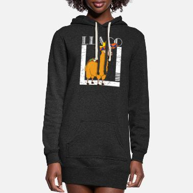 Amusing Llama Taco - Women's Hoodie Dress