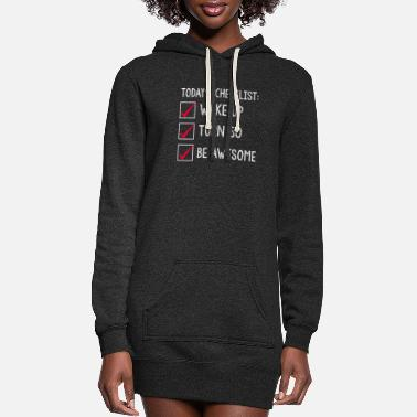 Turn Today's Checklist Wake Up Turn 50 Be Awesome - Women's Hoodie Dress