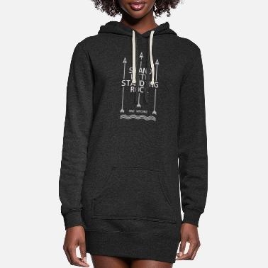 Stand Stand with standing rock - Women's Hoodie Dress