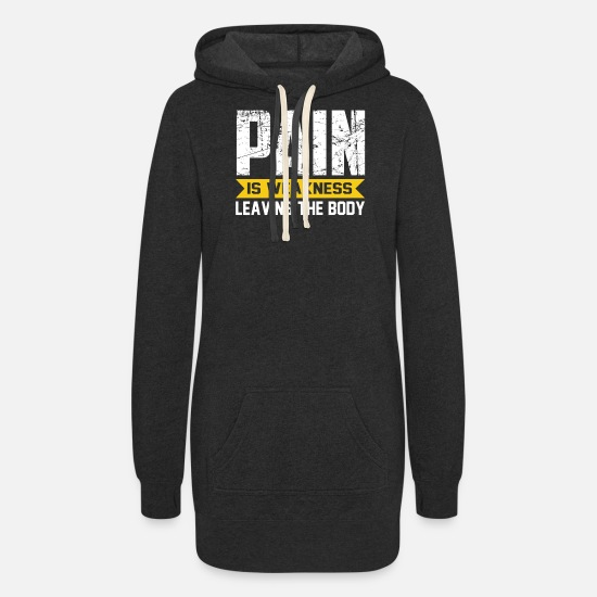 Body Builder Hoodies & Sweatshirts - 16 - Women's Hoodie Dress heather black