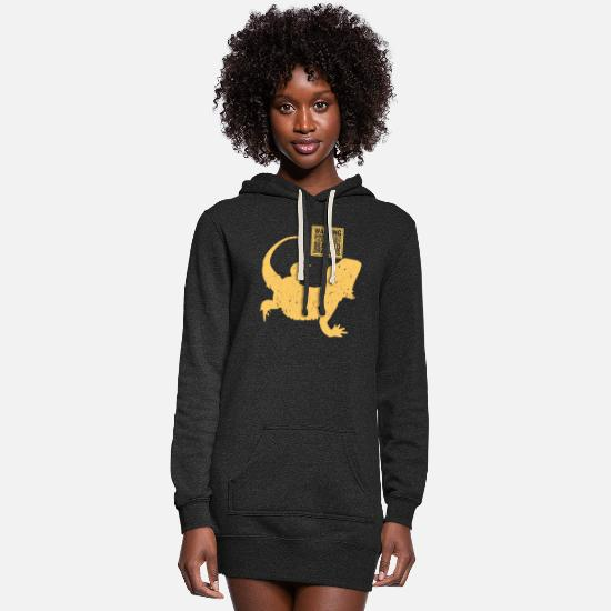 Reptile Hoodies & Sweatshirts - Reptile - Women's Hoodie Dress heather black