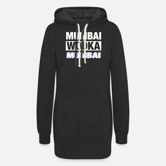 Gift Idea Hoodies & Sweatshirts - Mumbai India Wodka - Women's Hoodie Dress heather black