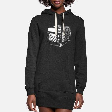 Old School Hip Hop CRATE DIGGERS RECORD COLLECTOR DJ CLASSIC HIP HOP - Women's Hoodie Dress