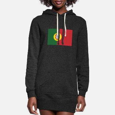 Portugal Flag of Portugal, Portugals flag, flag Portugal - Women's Hoodie Dress