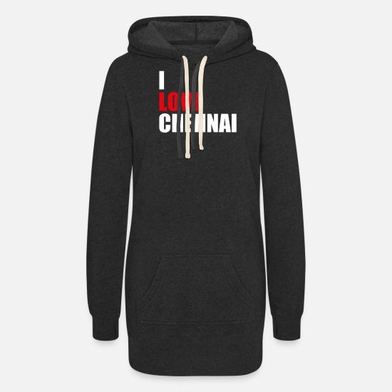 Chennai Hoodies & Sweatshirts - Chennai India - Women's Hoodie Dress heather black