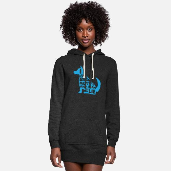 Dog Owner Hoodies & Sweatshirts - I Love Big Mutts and I Cannot Lie I Funny Dog - Women's Hoodie Dress heather black