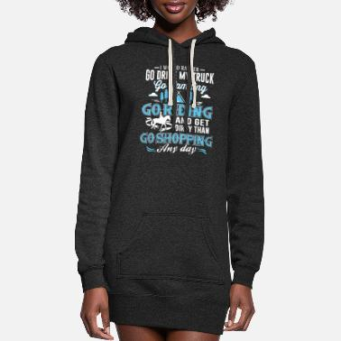 Drive Go By Car I would rather go drive my truck go camping go idi - Women's Hoodie Dress