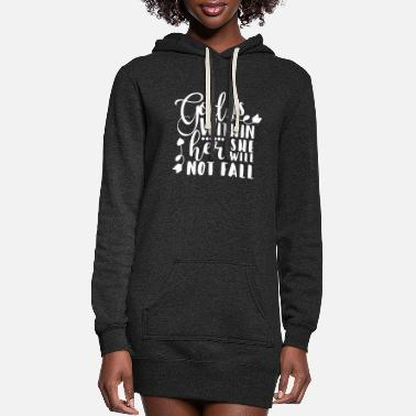 God God is Within Her She Will Not Fall Scripture Chri - Women's Hoodie Dress