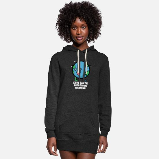 Earth Hoodies & Sweatshirts - No to Global Warming - Women's Hoodie Dress heather black