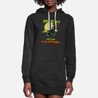 Witch Witch on witch broom - Women's Hoodie Dress