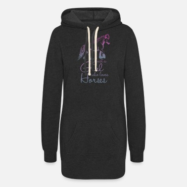 Tournament Jerk A Girl That Loves Horses - Women's Hoodie Dress