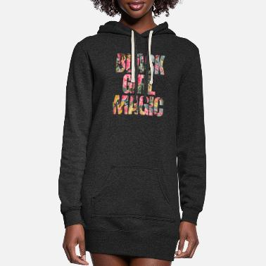 Black Girl Magic Black girl magic botanica watercolour paint - Women's Hoodie Dress