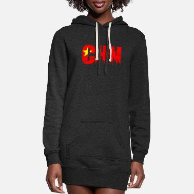 China China - Women's Hoodie Dress