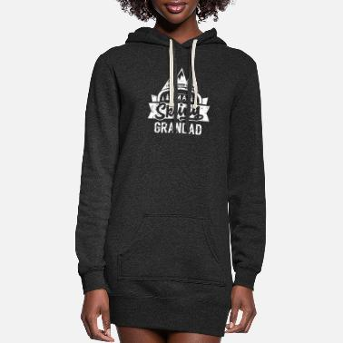 Grandad Ski Gramps Skiing Grandad Snow Skis Skier Grandpa - Women's Hoodie Dress
