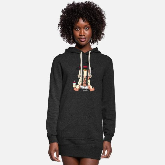 Mafia Hoodies & Sweatshirts - Mafia Baby with toy gun - Women's Hoodie Dress heather black