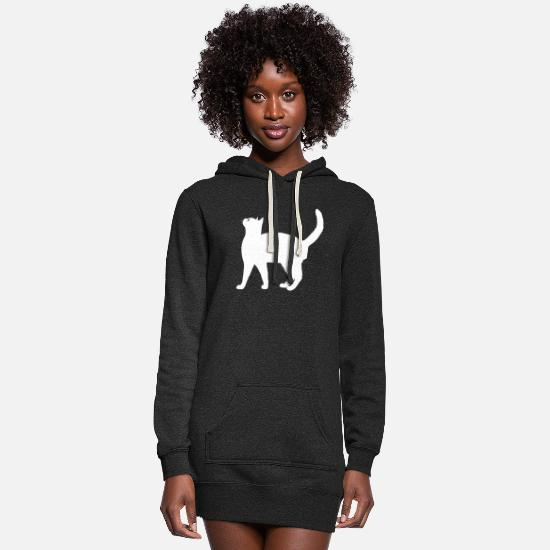 Hangover Hoodies & Sweatshirts - Siamese cat - Women's Hoodie Dress heather black