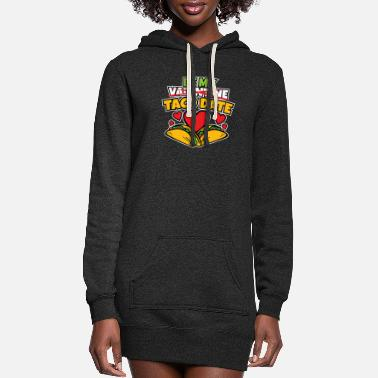 Stylish Womens Be My Taco Date Funny Valentine's Day - Women's Hoodie Dress
