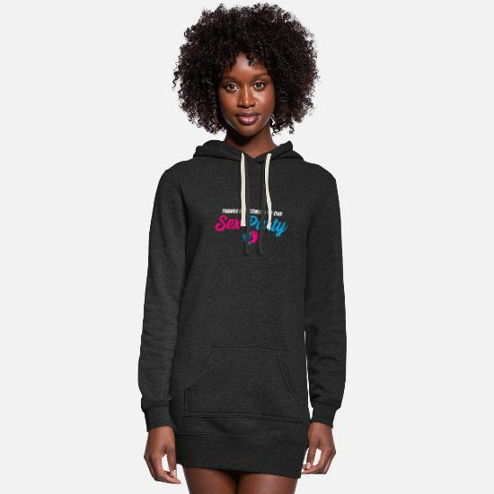 Gender Hoodies & Sweatshirts - Gender Sex Reveal Party Funny Pregnancy - Women's Hoodie Dress heather black