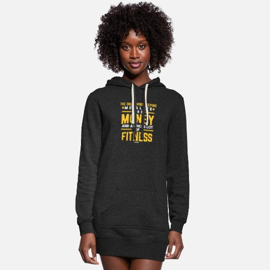 Biceps Hoodies & Sweatshirts - Muscles Fitness Gym Workout saying - Women's Hoodie Dress heather black