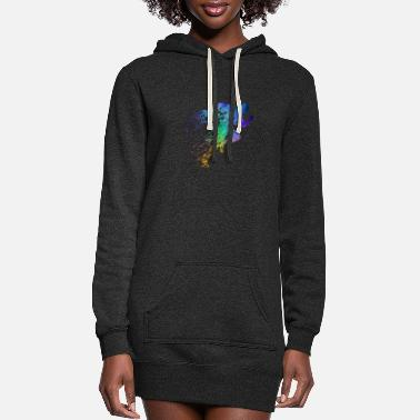 Sprinting Track and Field Sprinter - Women's Hoodie Dress