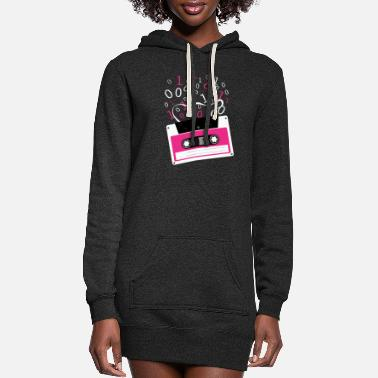 Rectangle Cassette tape Rectangle M Pattern Rectangle - Women's Hoodie Dress