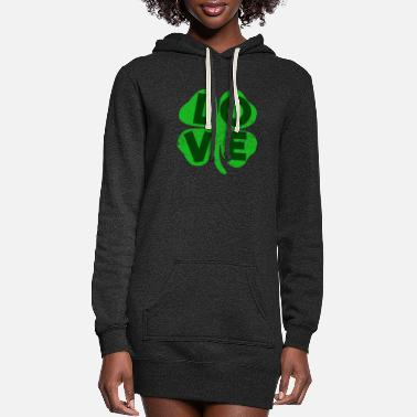 Celtic St Patrick's Day Clover love - Women's Hoodie Dress