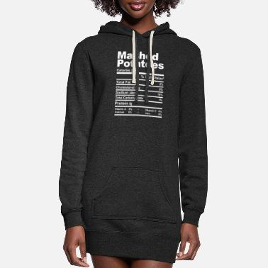 Happy Easter Mashed Potatoes Nutrition Facts Thanksgiving - Women's Hoodie Dress