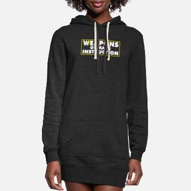 Stylish Weapons Of Math Instruction Funny Math Quote - Women's Hoodie Dress