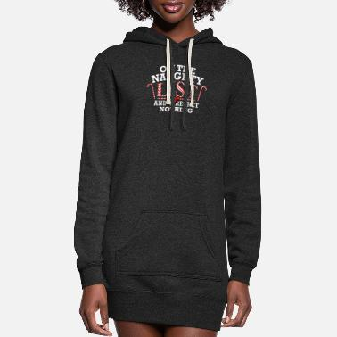 Santa Claus On The Naughty List And I Regret Nothing - Women's Hoodie Dress