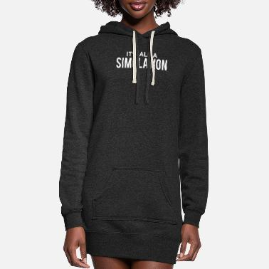 Ufo Its All A Simulation - Women's Hoodie Dress
