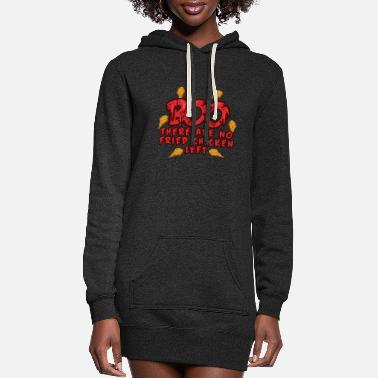 Illustration BOO - There are no Fried Chickens Left - Halloween - Women's Hoodie Dress