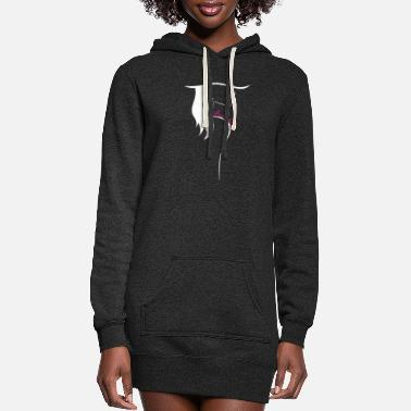 Lipgloss Brave Fearless Girl Pink Lip Lipstick Women Power - Women's Hoodie Dress