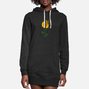 Cute Sunflower Puzzle Piece Pride Autism Awareness - Women's Hoodie Dress