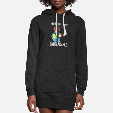 Childhood Autism Mom Unbreakable Autistic Puzzle Awareness - Women's Hoodie Dress