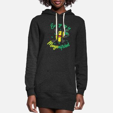 Moon Mangonificent Food And Mango Lover Gift - Women's Hoodie Dress