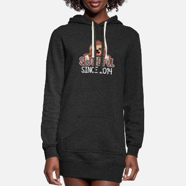 Turn On Slothiful Since 2014-Sloth Lover - Women's Hoodie Dress