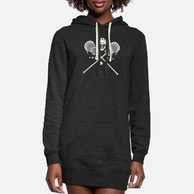 Stick Crossed sticks and helmet lacrosse athlete lax - Women's Hoodie Dress
