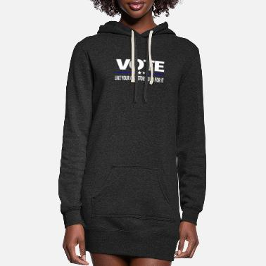 VOTE Like Your Ancestors Died For It - Women's Hoodie Dress