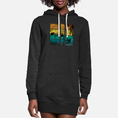 Summer Retro Otter - Women's Hoodie Dress
