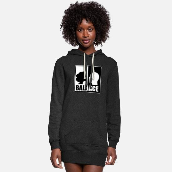 Birthday Hoodies & Sweatshirts - balance - Women's Hoodie Dress heather black
