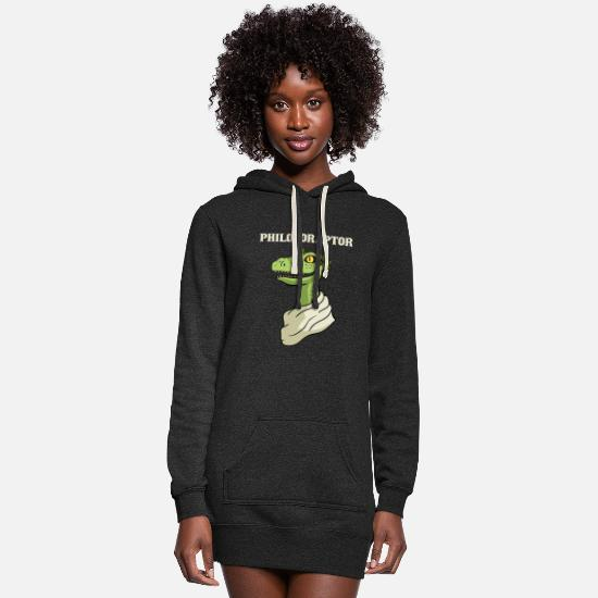 Socrates Hoodies & Sweatshirts - Philosoraptor - Women's Hoodie Dress heather black